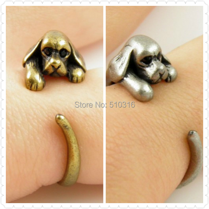 Vintage Animal Bulldog Ring French Unisex Dog Wrap Retro Adjustable Mens Ring Pet for Women Knuckle Magic ring sapphire jewelry(China (Mainland))