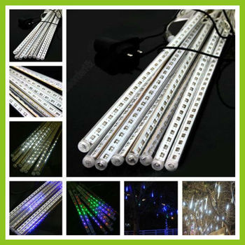 20CM 12LED Meteor Light String Tube Lamp Mini Holiday Decoration White/Blue/Colorful Free Shipping