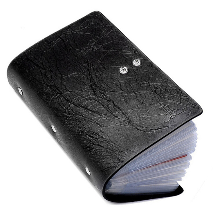 Fashion 96 Slots Men Business Cards Holders Genuine Leather Lightning Grain Buckle Capacity ID Credit Card Holder Free Shipping<br><br>Aliexpress