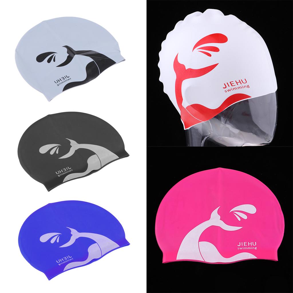 5 Pieces Swim Caps Waterproof Unisex Silicone Swimming Hat