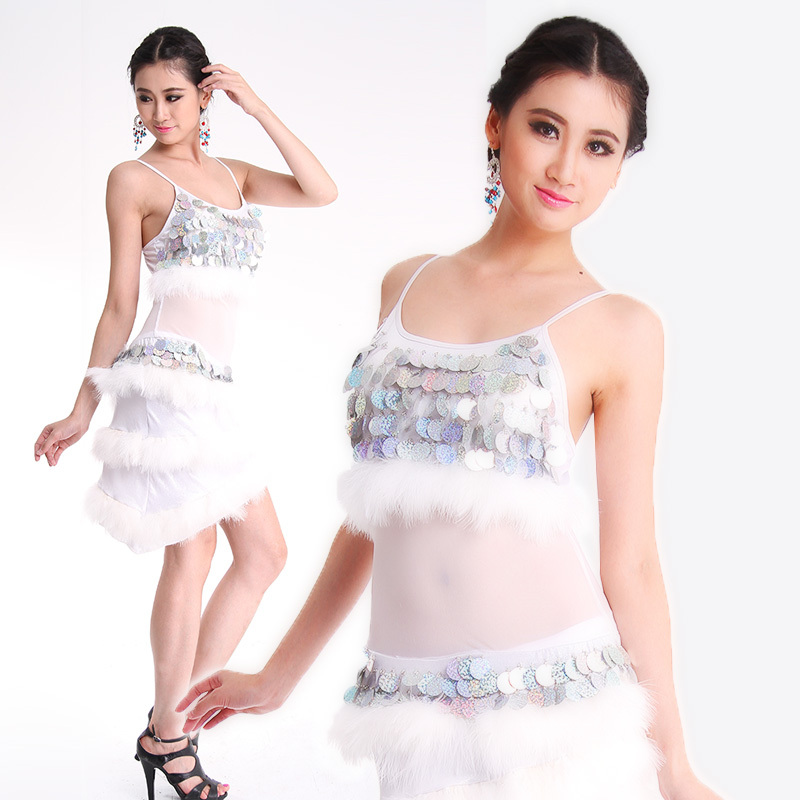 2015 High quality sexy girls latin dance dress white cheap costumes ballroom performance dance skirt for saleОдежда и ак�е��уары<br><br><br>Aliexpress