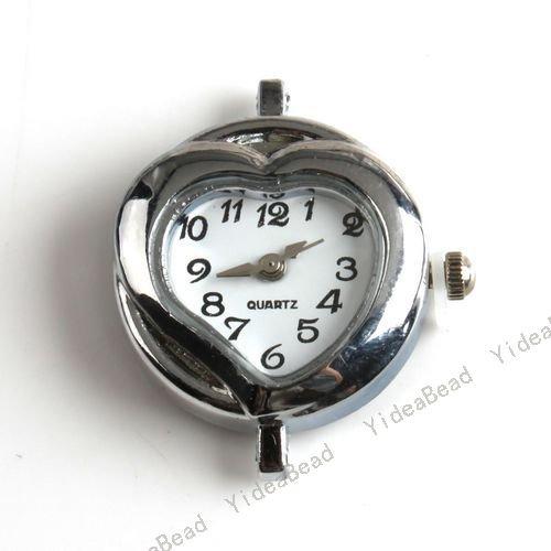 Coração Esculpido Relógio li - Ion Battery Rodada Assista Case Acessórios Stock 151462