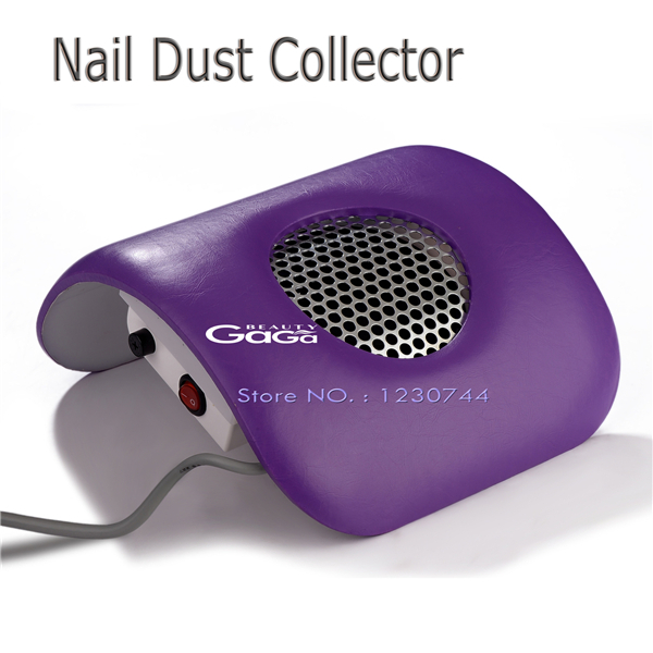 Beauty Purple Color Nail Beauty Equipment Dust Suction Strong Fan Nail Dust Collector Nail Art Manicure Tools(China (Mainland))