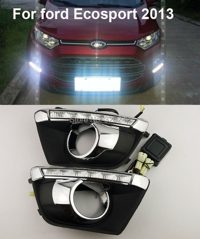 Ford Ecosport 2013 Excellent daytime running light Quality Ultra-bright LED fog lamp DRL led - Geerge-Tech store