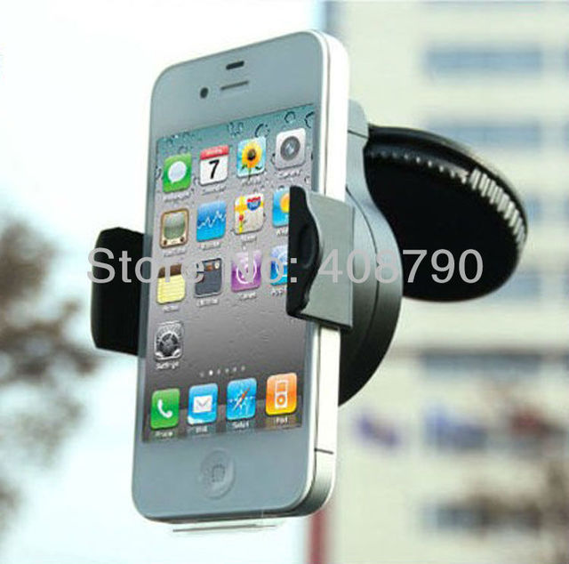Car Universal Holder Mount Stand for mobile phone /GPS/MP4 Rotating 360 Degree support + free shipping