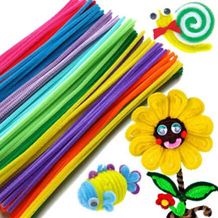 50pcs/set Plush Stick Shilly-Stick Children's Educational Toys Handmade Art DIY Materials and Craft Materials Free Shipping S56(China (Mainland))