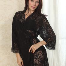 Womens Sexy See Through Lace Sleepwear Robes Lingerie Pajamas Nightgown Bathrobe(China (Mainland))