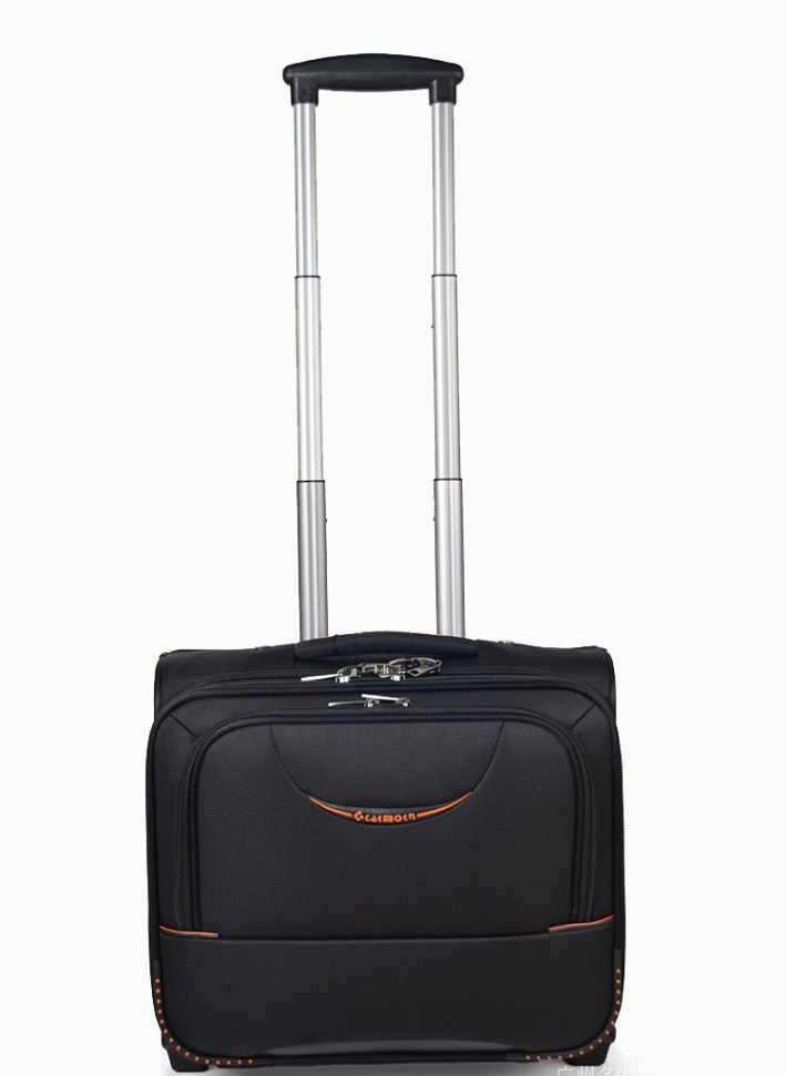 16'' Business travel luggage trolley boarding computer trip travel bag fixed caster luggage(China (Mainland))
