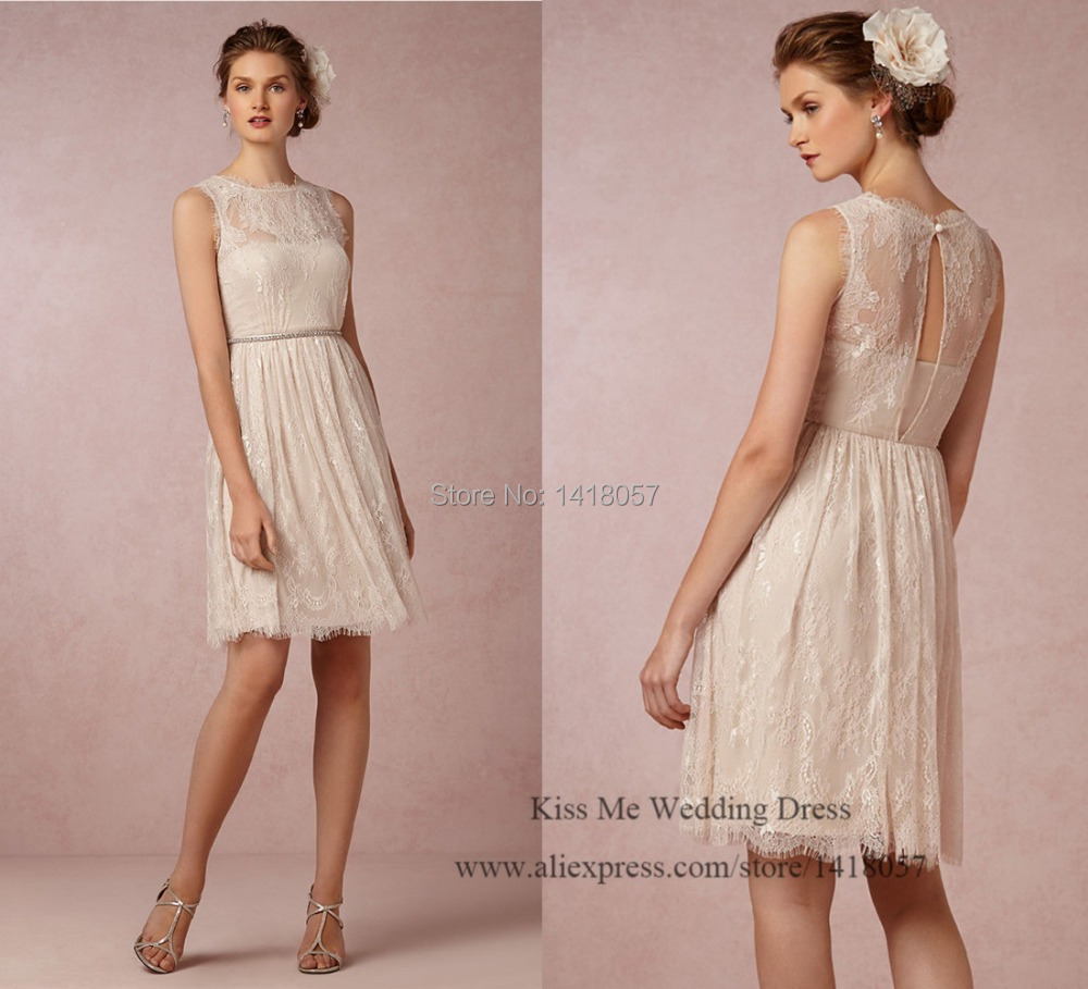 2015 cheap modest lace bridesmaid dresses short wedding