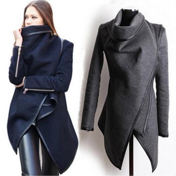 2014-Winter-Coats-Women-Long-Cashmere-Overcoats-Trench ...