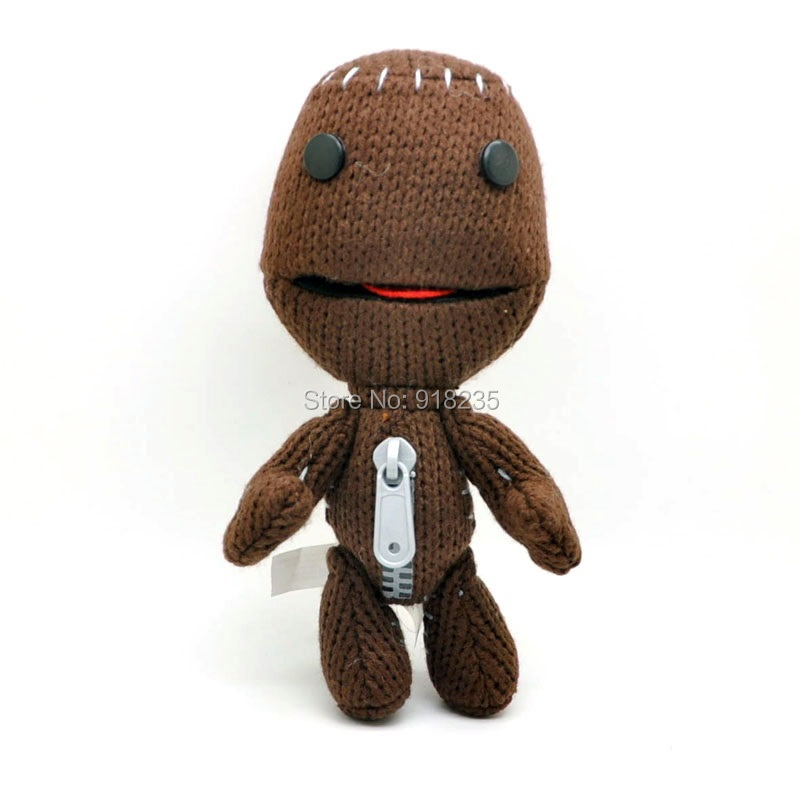 "Free Shipping Cute Little Big Planet Sackboy Brown Knitted Plush Toy 7.5""(China (Mainland))"