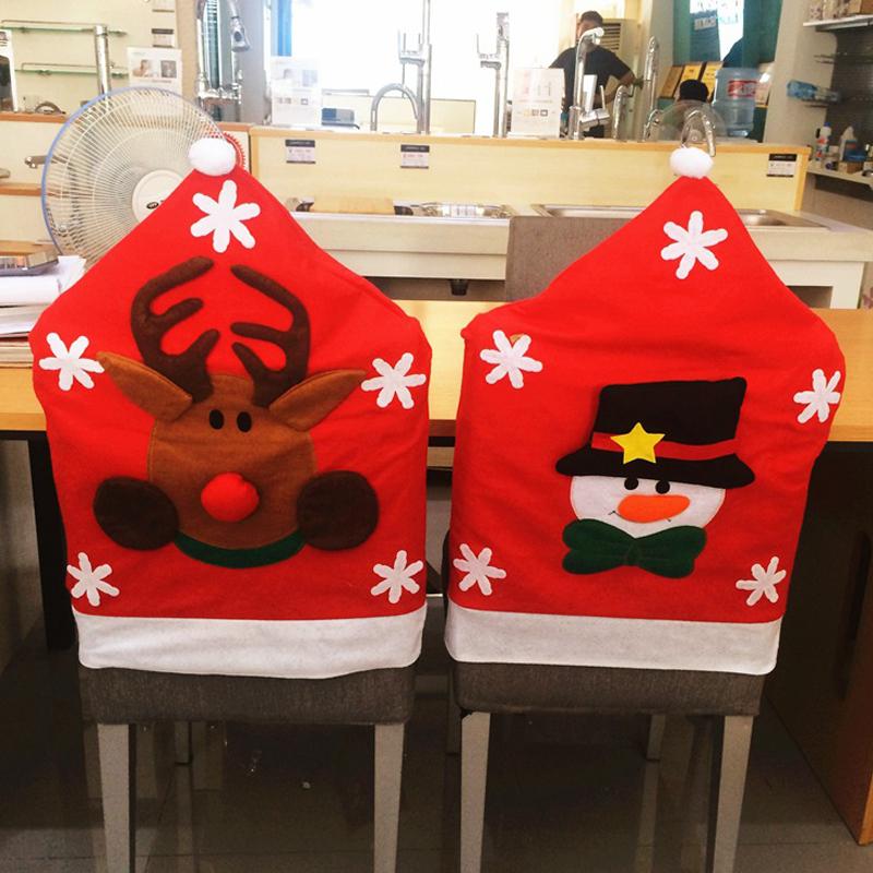 New Arrival Christmas Chair Covers 50*65cm Christmas Decorations Navidad Adornos Dinner Decor Chair Sets Gift(China (Mainland))