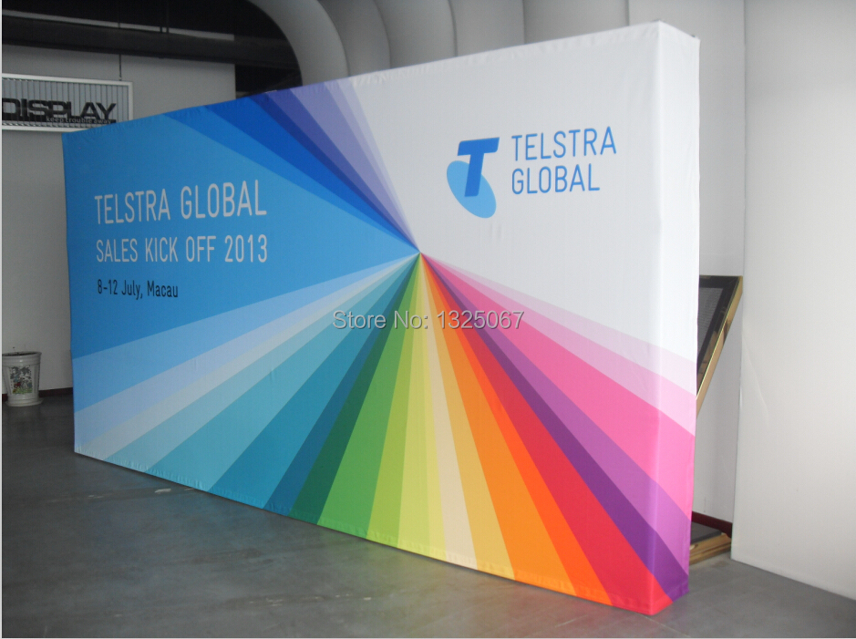Exhibition Stand Fabric : Ft straight tradeshow display fvelcro fabric pop up