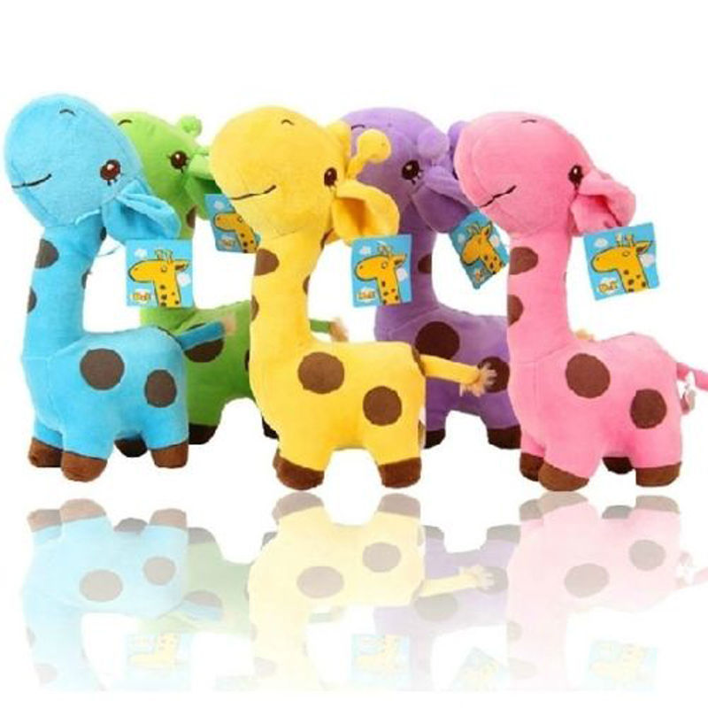 1 X Cute Gift Plush Giraffe Soft Toy Animal Dear Doll Baby Kid Child Birthday Happy Colorful(China (Mainland))