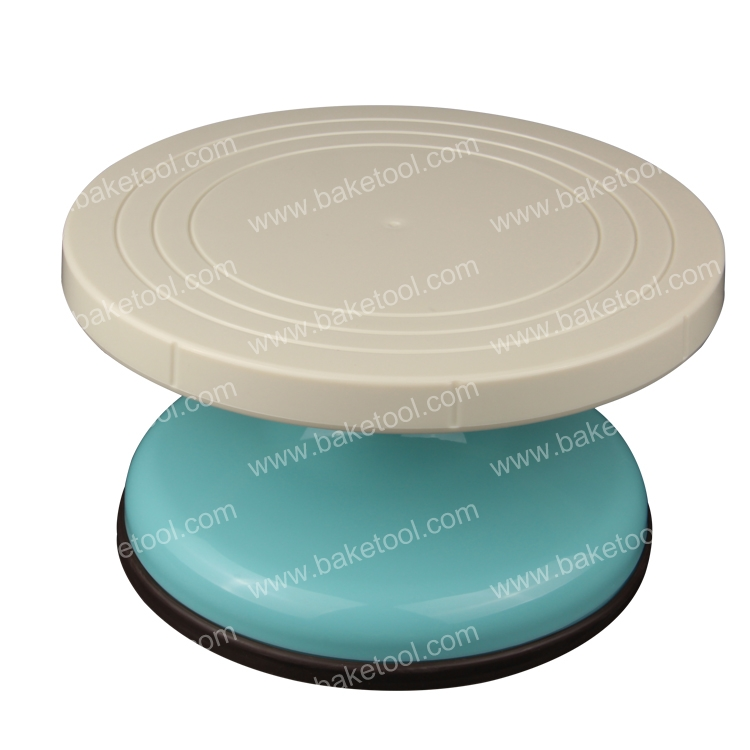 Free shipping Cake decorating turntable(9.1''x5.1'' ),Plastic cake turntable stand for wedding(China (Mainland))