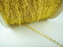 New Factory Price 20M 2mm Silver Gold Bronze Plated Brass Metal Chain Flat Cable Chain Jewelry