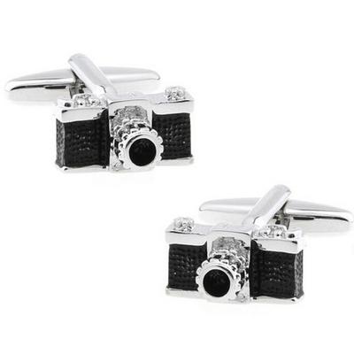 HYX Luxury shirt Black camera cufflink for mens Brand cuff buttons cuff links High Quality abotoaduras Jewelry(China (Mainland))