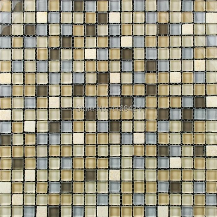 azul claro mezclado smocky color mezclado mosaico de azulejo de la cocina backsplash cuarto de bao
