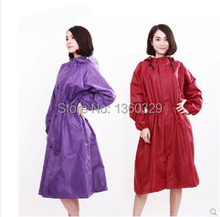 Japanese Style burberry_ womens Long Raincoats Red Thickening Printing Trench Woman Long Rain Jacket Waterproof Girls Clothes