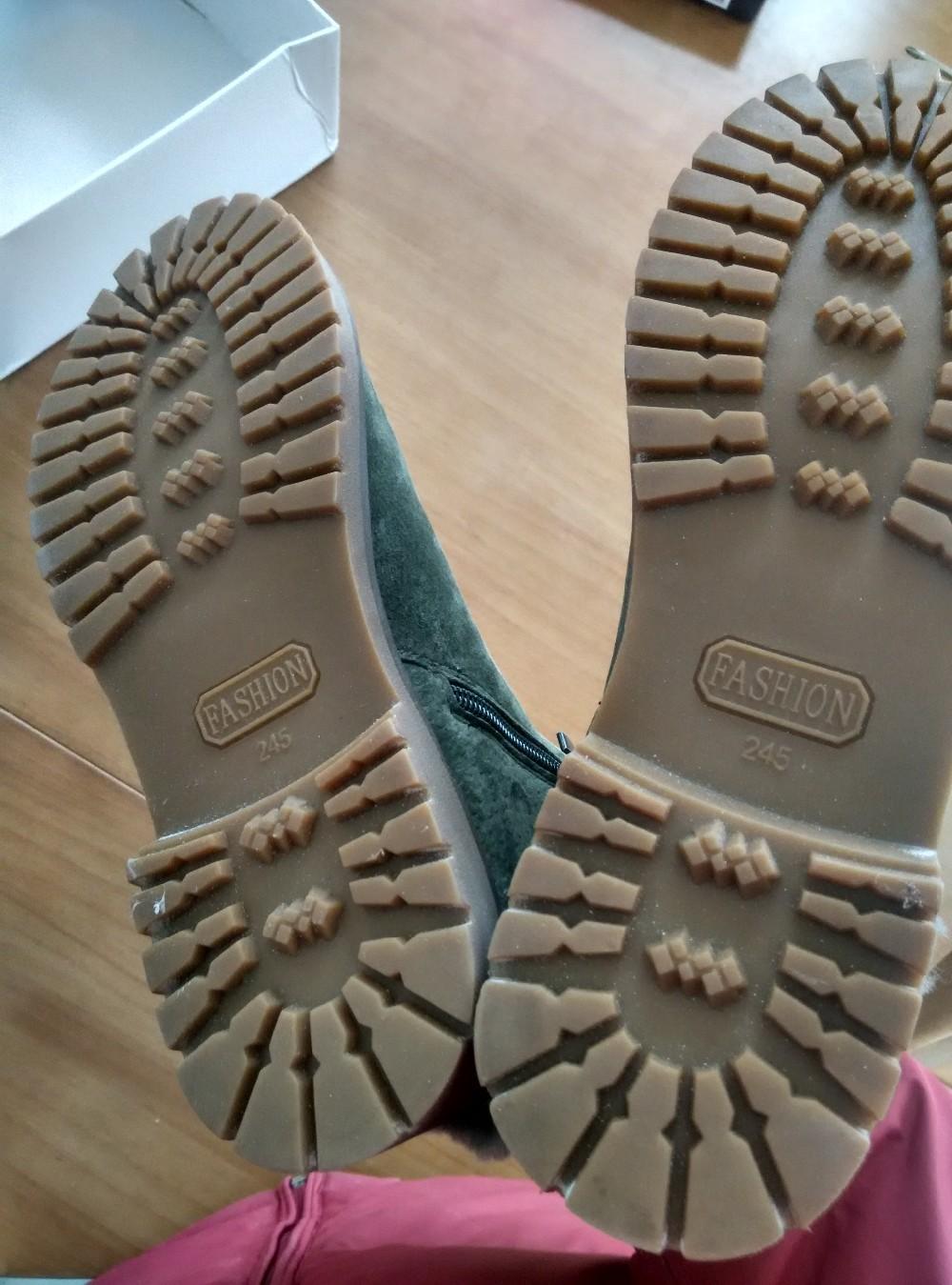 ซื้อ 2016ใหม่เสื้อผ้าแบรนด์ฤดูหนาวหนังแกะธรรมชาติขนผู้หญิงหิมะรองเท้าข้อเท้าหนังแท้ซิปอุ่นให้รองเท้าGN10