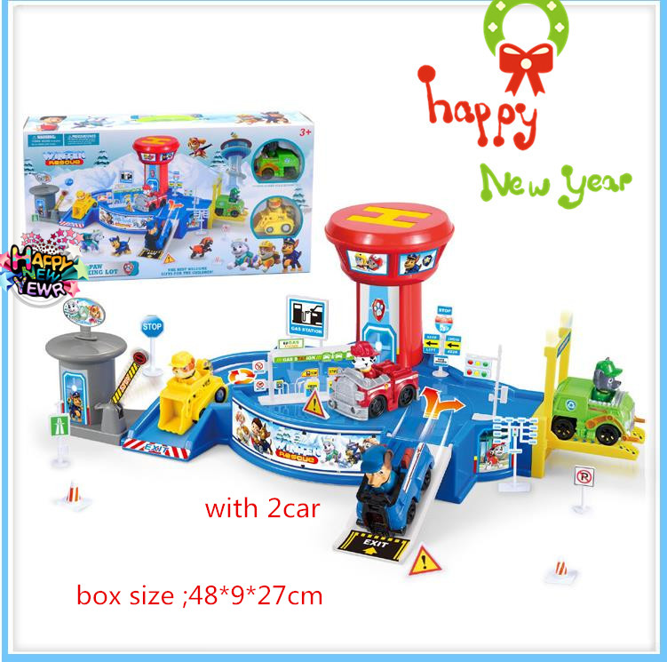 Christmas gift Toy Children Patrulla Canina Toys Patrol Puppy Command Center Assembly Vehicle Parking Lot Centro De Mand DE8(China (Mainland))