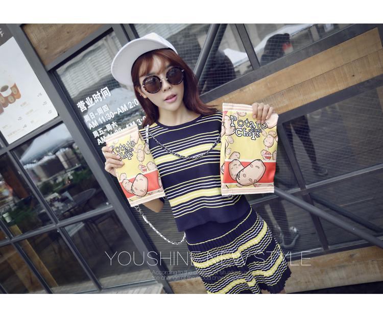 Free shipping 2016 new Harajuku soft sister Messenger chain bag of potato chips taste snacks phone purse(China (Mainland))