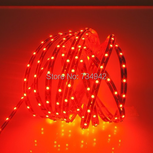 Five Meter DC 12V Dimmable SMD3528 Flexible LED Strips 60 LEDs Per Meter 8mm Width 300lm Per Meter, Copper Background(China (Mainland))