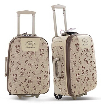 2015 fashion beautiful dot brand luggage rolling large capacity bag - Hi-Sun LTD store