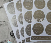 Free Shipping! Thank You Seals Stickers,Silver Round Seal Label,Thanks You Labels 40sheets/lot 15 x 9.5CM