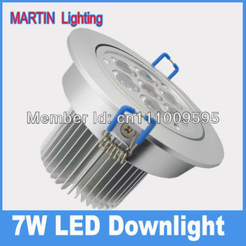 750lm High power 7W Cree LED recessed ceiling down lighting SMD bedroom bar lamp