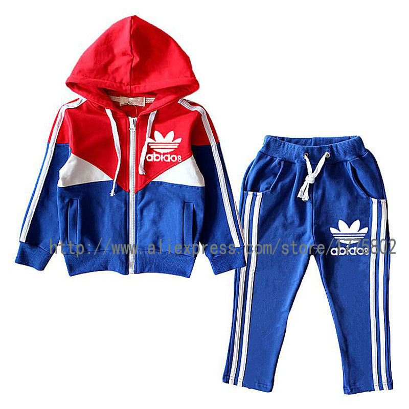 Brand kids Girls/ Boys clothes Jacket + pants cotton Baby boys girls Sport suit Tracksuit children clothing set Boys clothes(China (Mainland))