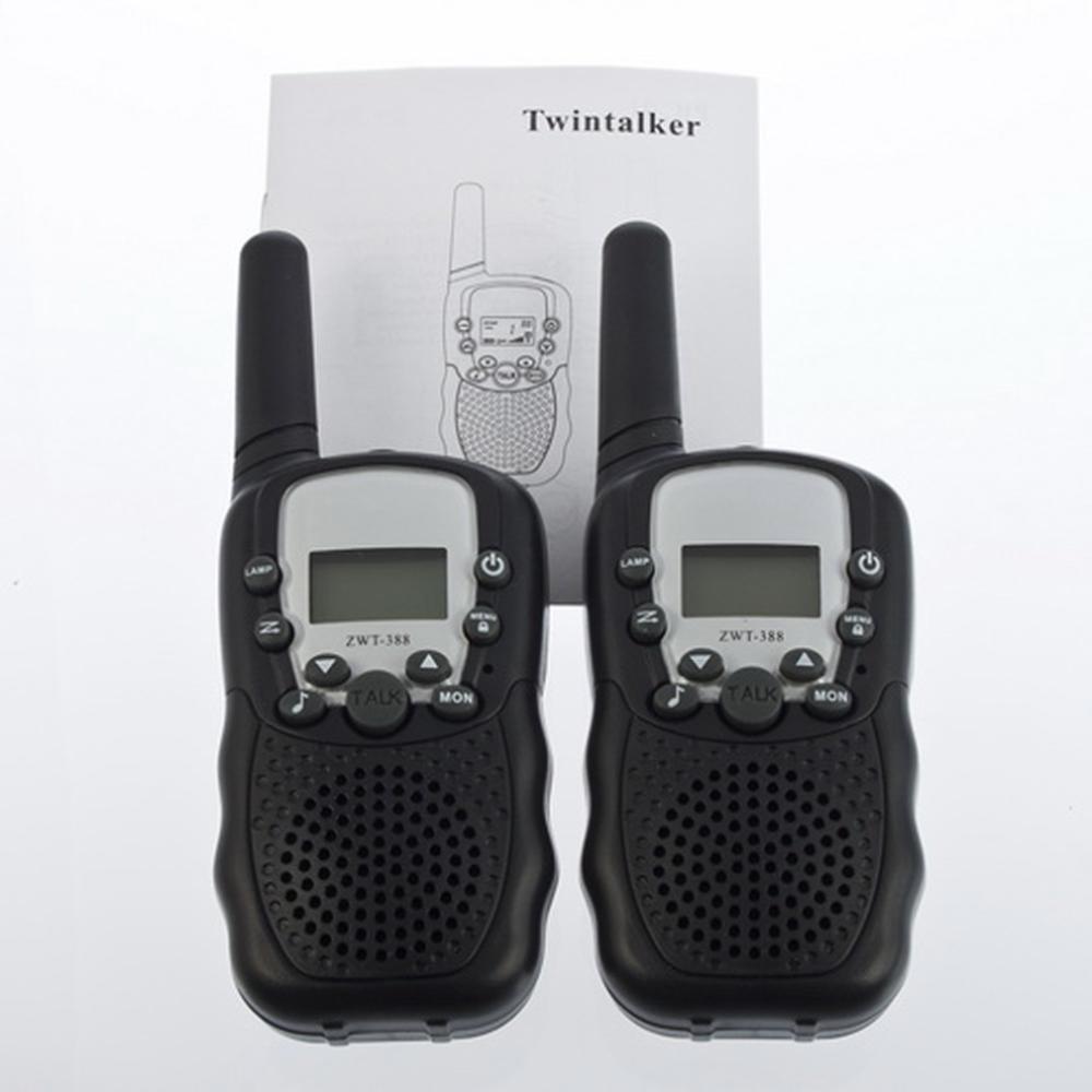 Hot Selling 1Set LCD 5km UHF Auto Multi Channels 2-Way Radio Wireless Walkie Talkie T-388 Big Sale!(China (Mainland))