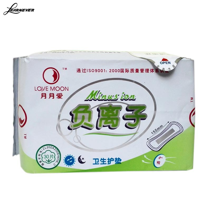 30 piece = 1 package/ pack winalite anion love Moon Anion sanitary napkins anion absorbent absorbent towel X064(China (Mainland))
