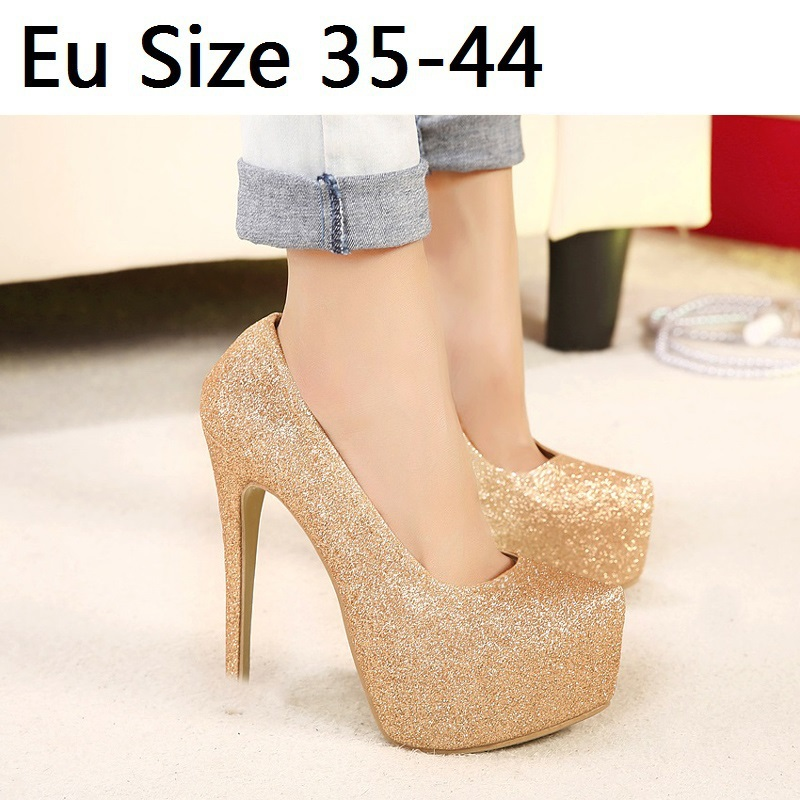 15 cm Sexy High Heels Sequined cloth Women Pumps Spring Ladies Shoes Woman Chaussure Femme Zapatos Mujer sapatos femininos <br><br>Aliexpress