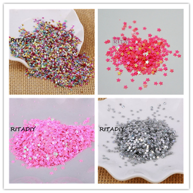 New Hot 20g 3mm star Heart shape PVC loose Sequins Paillettes for Nail Art manicure/sewing/wedding decoration confetti(China (Mainland))