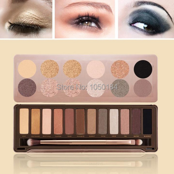 Best Quality New 3 Type Eye shadow palette 12 Colors NK1,2,3 Makeup eyeshadow palettes with brushes Dropshipping B26 nake 20096(China (Mainland))