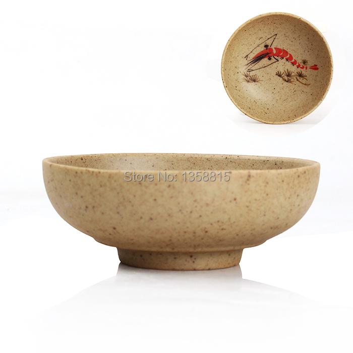 Creative shrimp vintage tea cup set kung fu tea set tools rough pottery tea cups 6pcs