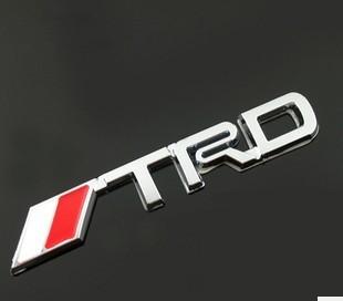 CT-303 Toyota logo TRD metal reiz Toyota yaris corolla decorative laminated sticker car styling(China (Mainland))