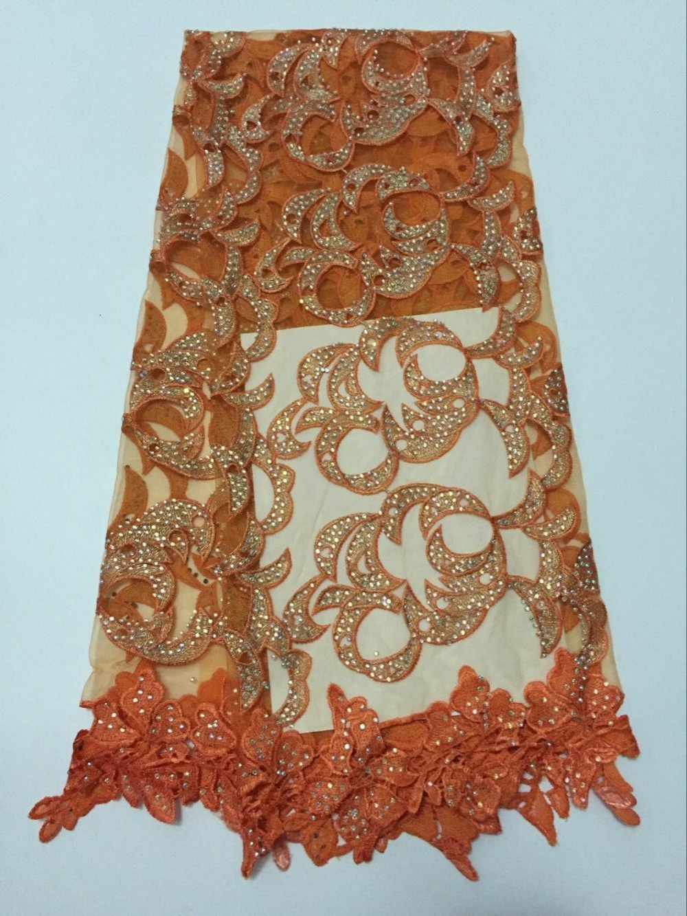 Stone Gold Lines African High Quality French Net Lace Swiss Voile  Lace Fabric For dress Party 5yd/lot  Free Shipping  HJ-L2001