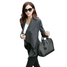 New woman Fashion winter woolen overcoat women fashion Jackets woolen coat 4 colors  Drop shipping