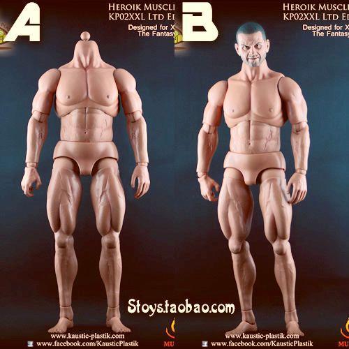 Kaustic Plastik KP02XXL 1: 6 soldiers were muscle ferritic A headless Statue B lead spot BR
