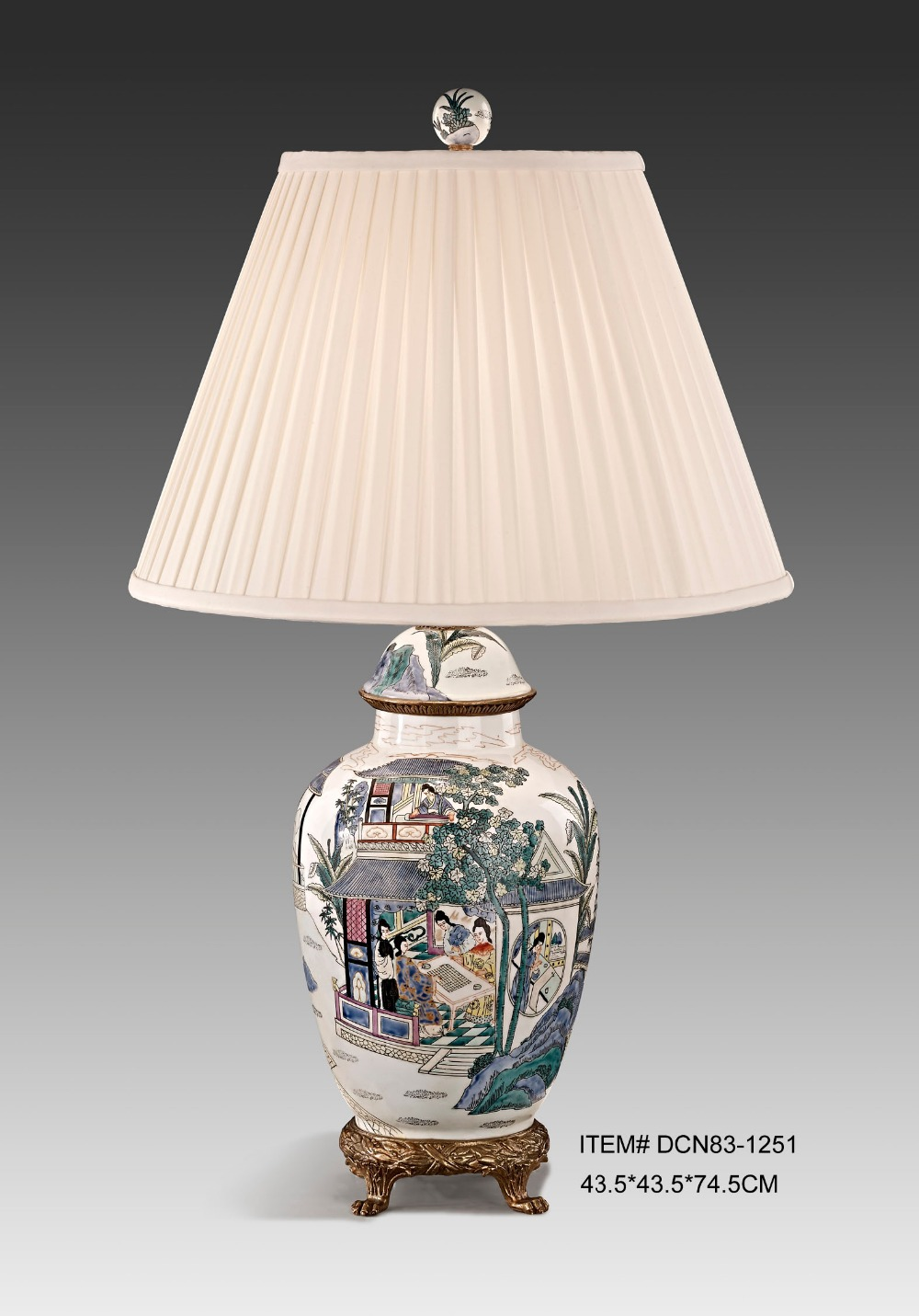 Online buy wholesale chinese porcelain table lamp from for Table lamp bases wholesale