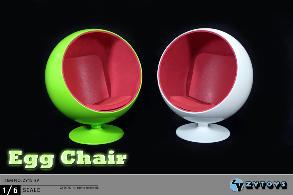 """ZYTOYS 1/6 Scale Rotable Egg Chair ZY15-29 Space Chair White /Green For 12"""" Action Figure Toys Accessories Collection Gift(China (Mainland))"""