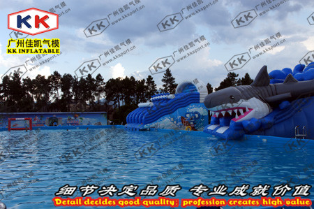 Custom Factory water checkpoints large inflatable swimming pool equipment bracket slide toys for children(China (Mainland))