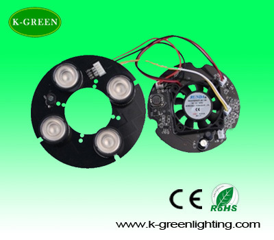 High power led 850nm infrared illuminated board plate with the fans for CCTV Camera free shipping<br><br>Aliexpress