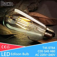 Buy LED Edison Bulb E27 E14 LED Lamp 220V Antique Retro Vintage Filament Light Glass Bulb 4w 6w 8w 12w Candle Lamparas Bombillas for $1.13 in AliExpress store