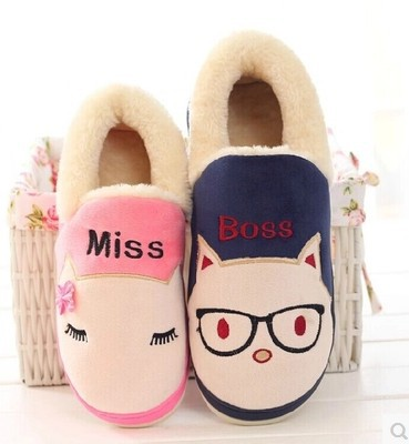 Cixi factory direct wholesale 14 new cartoon cotton slippers lovers Home Furnishing winter cotton padded shoes slippers<br><br>Aliexpress