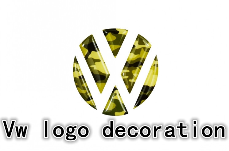 New products reflective glue camouflage automobile tail grooves logo sticker/Lavida golf 6 7 new POLO magotan CC view(China (Mainland))