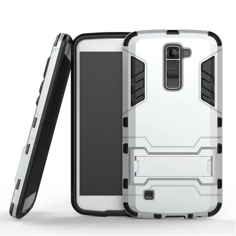 ZEALLION LG K4 K5 K7 K10 G4 G5 G6 V10 V20 Leon C40 Zero Case 2 1 Case High Hard Plastic Silicone Stents Cover