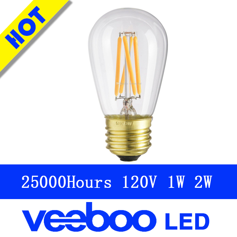 Party led filament bulb AC120v S14 E26 base 1W 2W retro bulb American Standard ul certificate light energy saving Color Bubble(China (Mainland))